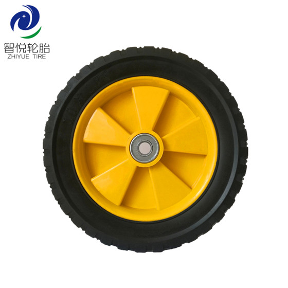 Rubber tires 10 inch solid rubber plastic wheel for generator pressure washer dehumidifier wholesale