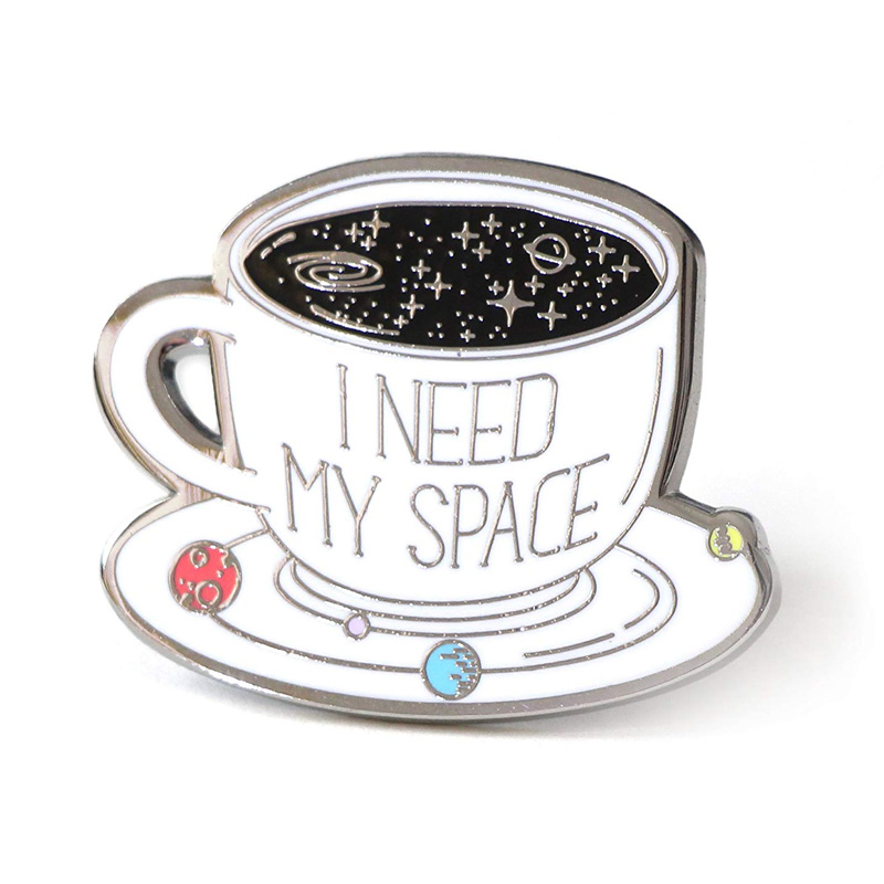 Space Coffee Cup Hard Enamel Pin
