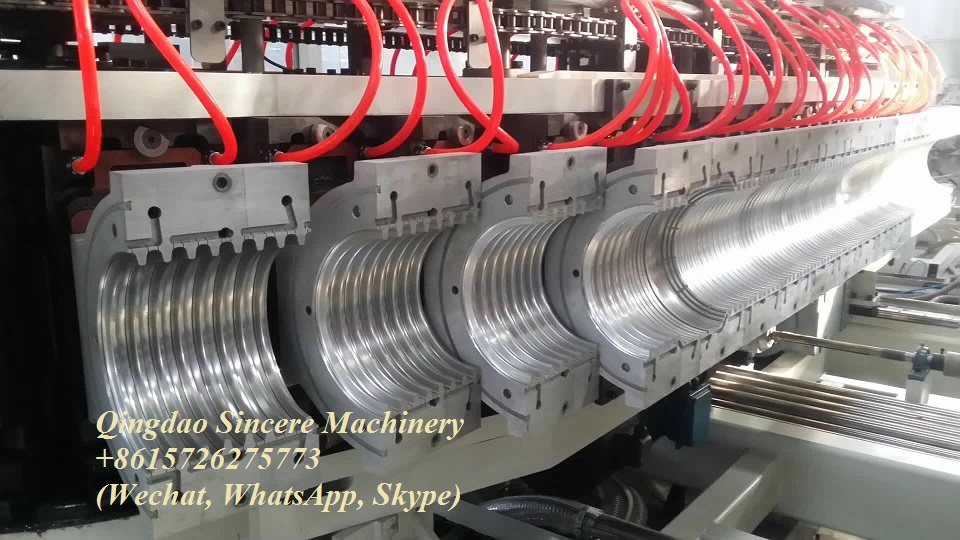 High-speed DWC corrugated pipes extrusion production line