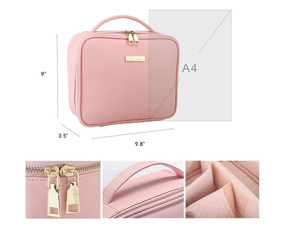 Our exquisite work will guarantee quality of makeup bag for