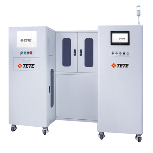 Automatic Laser IC Marking Machine, 20W 30W Double Track System for IC Chips DIP/Sop/Ssop/Qfm/BGA System TETE DPF-Ml30