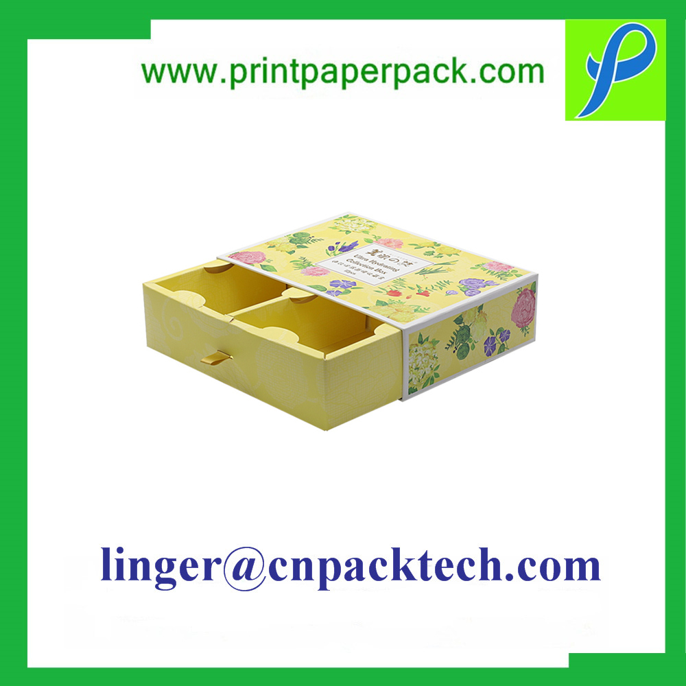 Customized Kraft Paper Rectangle Shape Gift Packaging Box