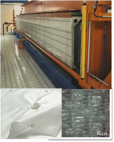 High temperature conveying belt with high wear with round yarn