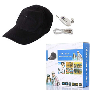 8GB 1080P Camera Hat, Outdoor Sport Camera,  Covert Video Recorder Remote Control Baseball Cap Wearable Cam