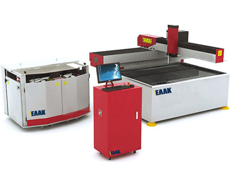 China EAAK water jet cutting machine for glass metal stone