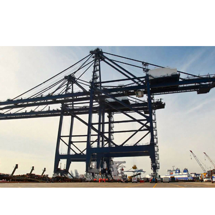 150ton quayside container gantry crane end beam for shipyard