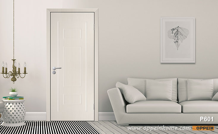 Modern White PVC Hinged Door P601