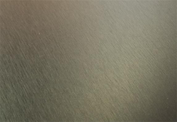 Cool Metal brushed PET surface panel