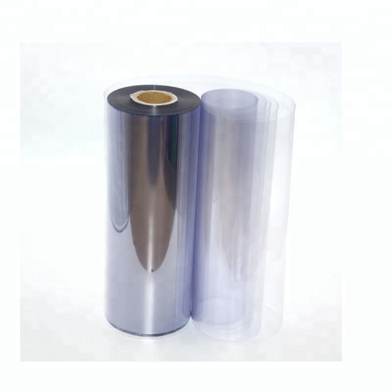 400 Micron Clear Thick Plastic PVC Sheet Roll For Thermoforming Clamshell