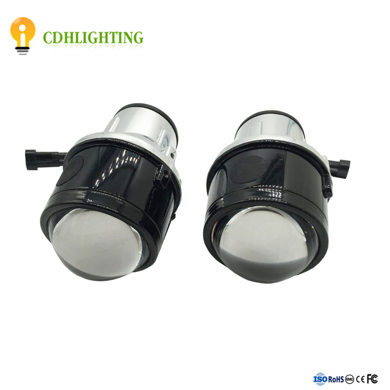 Hot Car Fog light Bi-xenon projector hid lens with angel eye