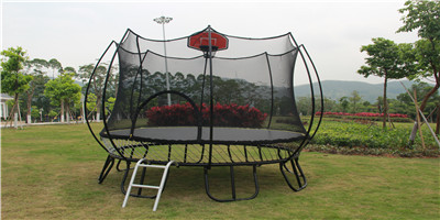 Outdoor Trampoline 15' for Kids with Basketball Hoop & Backboard Enclosure Net Jumping Mat & Safety net