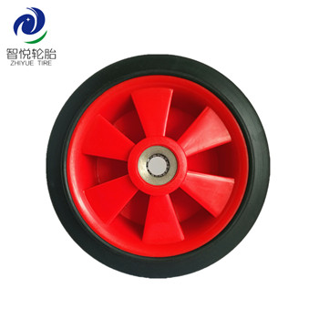 Flat free tire 5 inch factory price solid rubber wheel for trolley cart generator hand trolley