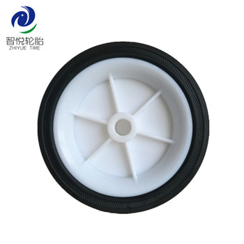 5 inch solid high quality rubber wheel for air compressor generator baggage cart wholesale