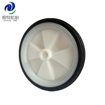 Wheel tyre 4 inch solid rubber plastic wheel for bicycle auxiliary luggage bag trolley wholesale