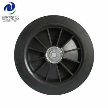 6 inch Hot selling good quality solid rubber wheel for trolley cart generator luggage cart