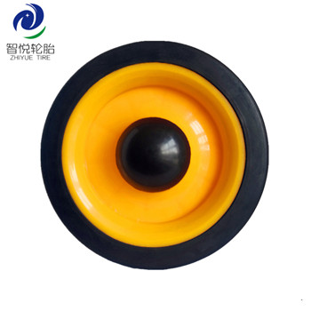 5 inch Factory price industrial semi pneumatic rubber wheel for tool box cart luggage trolley wholesale