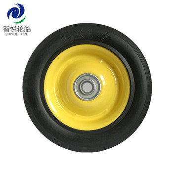 Flat free tire 6 inch high quality solid rubber wheel for stair climbing pressure washer baggage cart wholesale