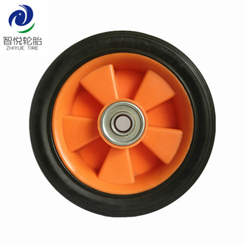 Flat free tire 7 inch industrial solid rubber plastic wheel for dehumidifier shopping trolley hand cart wholesale