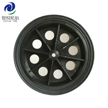 7 inch cheap price hot sale solid rubber plastic wheel for tool cart fan shopping cart