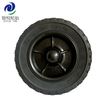 China hot sale high quality 10 inch solid rubber wheel for generator power tiller hand cart wholesale