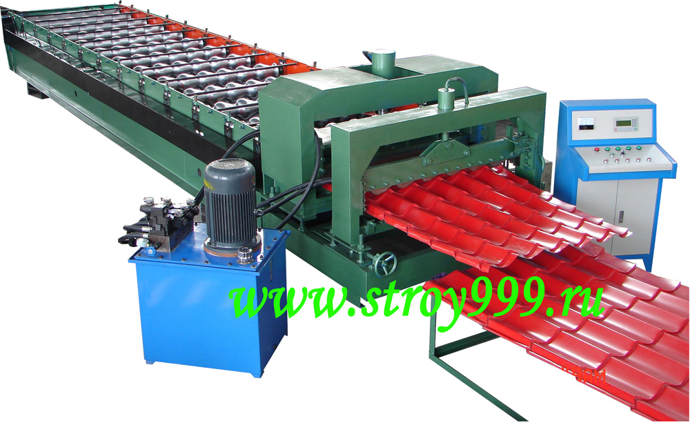 the roll forming machine Model Monterey V1100