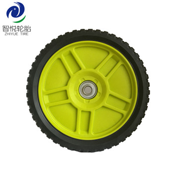 High Durability cheap hot sale 8 inch pvc plastic wheel for lawn mower lawn spreader lawn sweeper