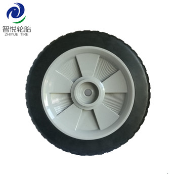 Good Quality High Performance 9 inch pvc plastic wheel for lawn mower garbage can power tiller