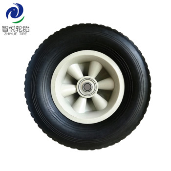 Flat free tire 10 inch semi pneumatic high quality rubber wheel for generator pressure washer wholesale