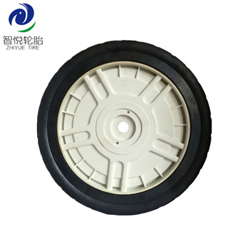 China high quality 10 inch solid rubber wheel for lawn mower lawn spreader lawn sweeper wholesale