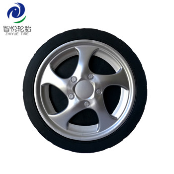 China high quality 8 inch pvc plastic wheel for lawn mower bbq grill ice cooler wholesale