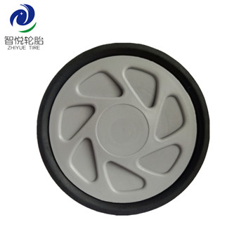 6 inch High strength good quality solid rubber plastic wheel for lawn mower generator bbq grill