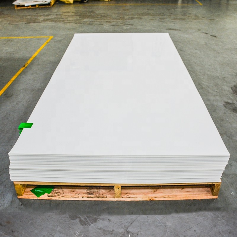 0.8mm White 4x8 Plastic Rigid Anti-scratch PETG Sheets For Kitchen Cabinet