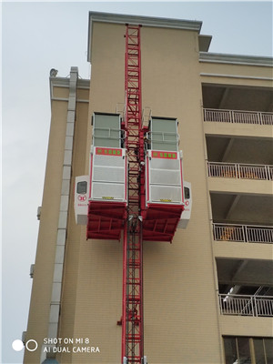 SC200/200BZ Middle Speed Building Construction lifting Elevator  Hoist