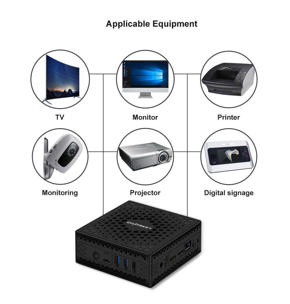 Mini pc/Fanless mini pc with Intel Celeron J3455