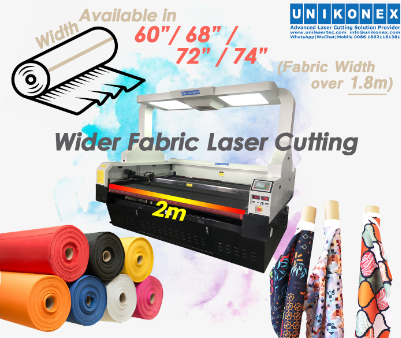 Wider fabric laser cutting, sublimation printed fabric cutting