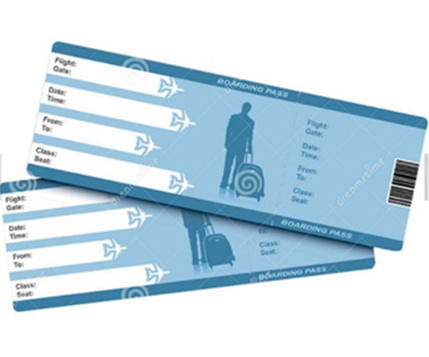 travel airline waybill ticket printing
