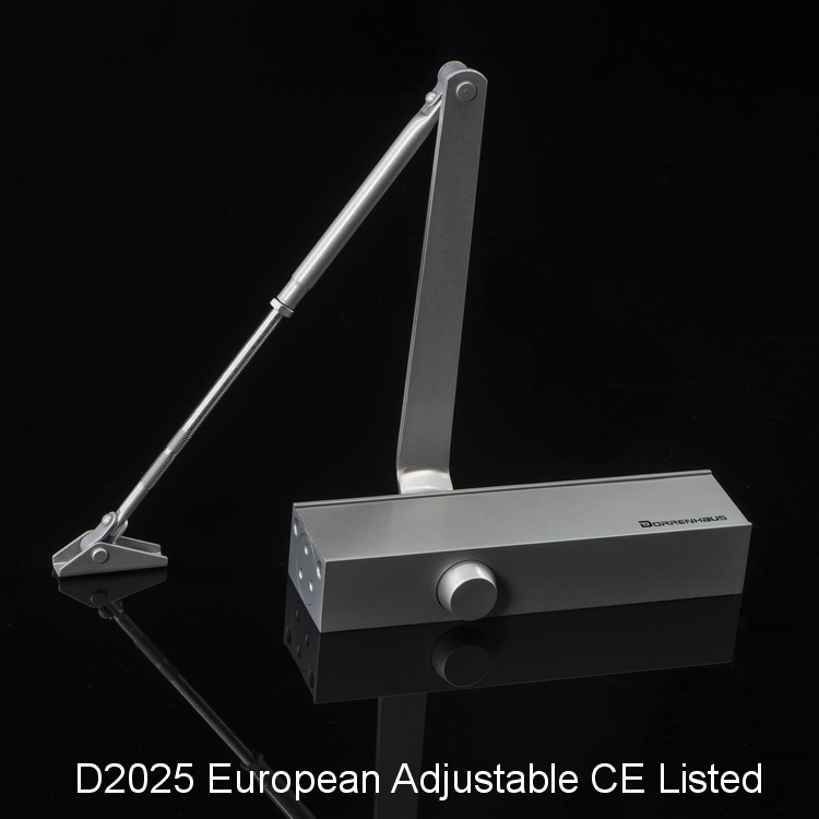 CE Listed Adjustable 180 Degree Commercial Door Closer