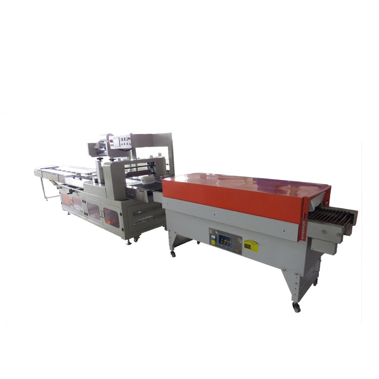 Cup and bowl noodles shrink wrapping machine