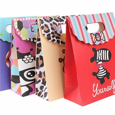 Luxury Paper Shopping Bags with Custom Handle,Printed Paper Gift Bags