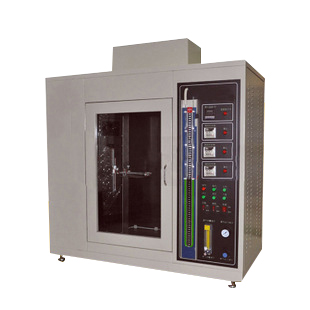 Horizontal & Vertical Flammability Tester (flammability chamber), used to determine the flammability of plastic materials for parts in devices and appliances. UL94 Horizontal & Vertical Flammability