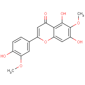4H-1-Benzopyran-4-one,5,7-dihydroxy-2-(4-hydroxy-3-methoxyphenyl)-6-methoxy-