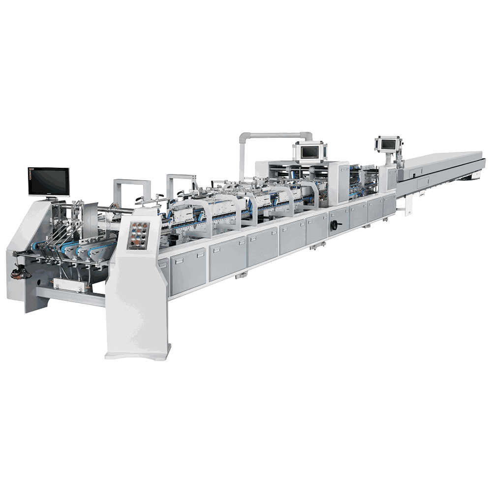 ZH-850H Automatic Small Box Gluer High Quality Folding Carton Box Gluing Machine