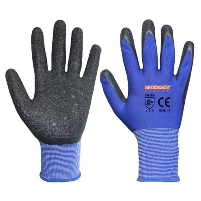 Blue Latex Coated Safety Work Gloves