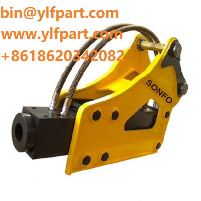 Construction machinery parts 20 ton excavator hydraulic hammer top rock for rental company
