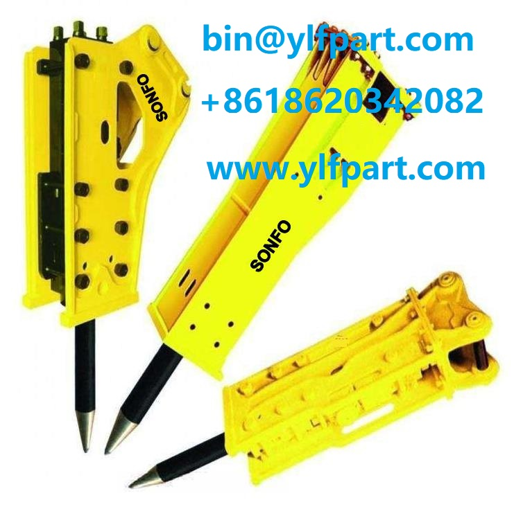 Construction machinery side type hydraulic breaker rock hammer for Volve EC210 excavator attach