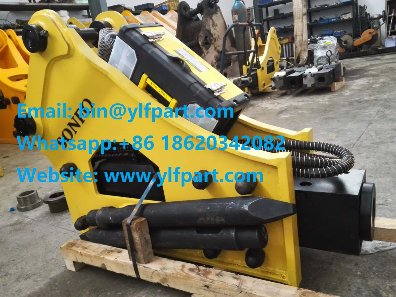 Side type mini used excavator attachments hydraulic breaker rock hammer with 68mm chisel for sale