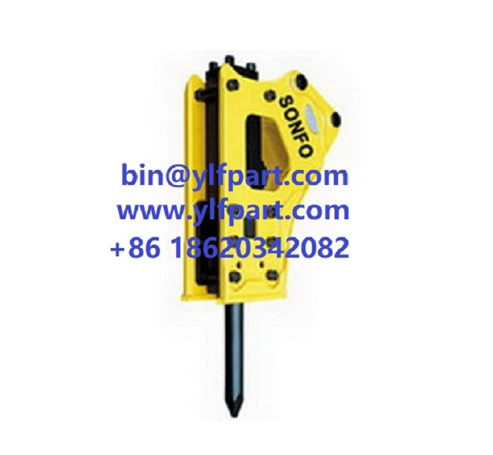 Factory Top Quality excavator Hydraulic Rock Breaker Hammer with 75mm 100mm chisel spare parts
