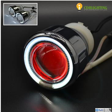 Hot sell 2.5 inch 35W Dual Angel Eye bi xenon HID Projector