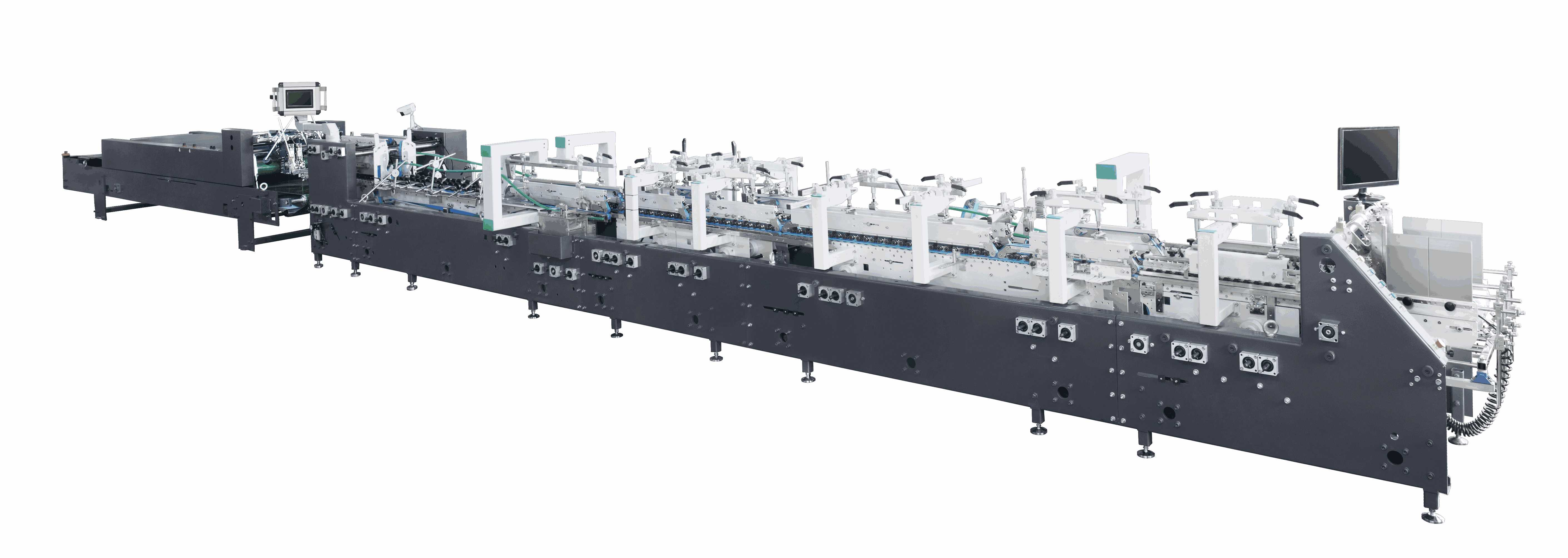 ZH-1100S Series Automatic High-speed One side box Gluing Folding Machine