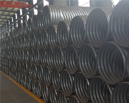Rolled corrugated steel pipe